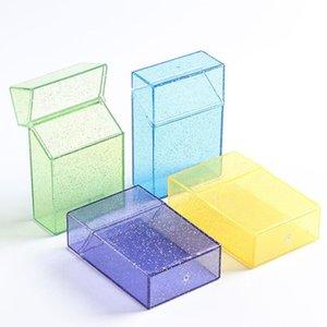 Plastic Portable Transparent Cigarette Case Flashing Men And Women Personalized Tobacco Storage Box Creative Gift Supplies BWA7638