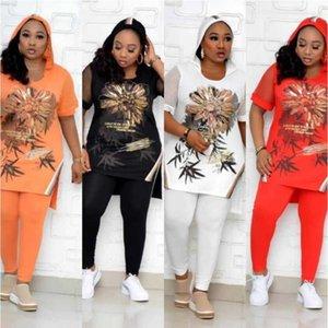 Женские брюки для женщин 2 Set Africa Одежда Африканская Одежда Женская плюс Размер Party Dress Dashiki Famouse Suit Top + Упругие подходящие наборы