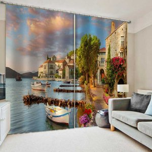 Занавес Drapes Красивый пейзаж гостиной спальня 3d Blackout PO печати для окна домашнего декора