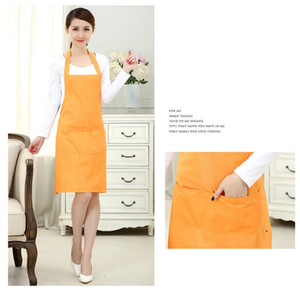 Cooking Baking Apron Reusable Convenient Solid Color Apron Kitchen Restaurant Work Pinafore Women Home Sleeveless Apron BWA3857