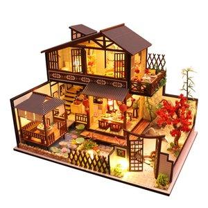 CuteBee Enfants Jouets Doll Mobilier Meubles Assembler Miniature Miniature Bois Diy Dollhouse Puzzle Jouets éducatifs pour enfants P2 210225