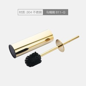 Toilet Brushes & Holders MaBlack Square Brush Holder Stainless Steel Cleaning Set Free Punch Boal Head Bathroom Accessories