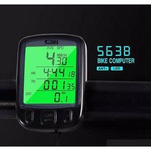 563B Waterproof Lcd Display Cycling Bicycle Computer Odometer Speedometer Cycling Speedometer With Green Lcd Backlight Zza616 60Pcs D9 Nydyx