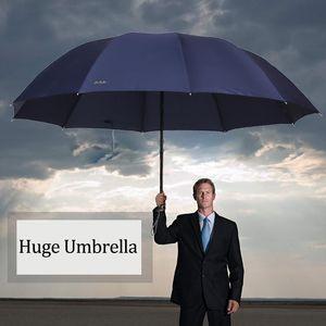 Umbrellas 152CM Top-quality Umbrella Men Rain Woman Windproof Large Paraguas Women Sun 3 Floding Big Family Outdoor Parapluie