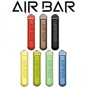Air Bar Одноразовое устройство Vape Pen E Cigarette System Kit с аккумулятором 380 мАч 1.8ML Предварительно заполненный картридж 500 пухов портативный оригинал