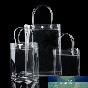Transparent PVC Plastic Tote Bag Waterproof Clear Handbag For Water Bottle Storage Shoe For Things Shoulder Bags Home Organizer