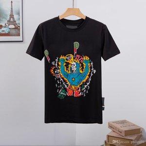 SS21 최고 품질 남성 여성 디자이너 티셔츠 럭셔리 노스 EA 얼굴 셔츠 까마귀 재킷 여름 둥근 목 두개골 다이아몬드 셔츠 신발 20