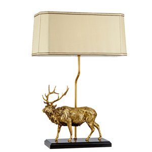 Home Decorative Art Craft OEM Novelty Animal Dewaxed Brass Table Lamp For Home Bedroom