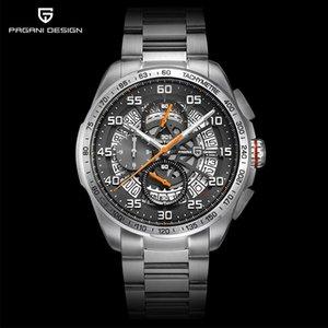 Pagani Design Brand Avant Sport Sport 3D grande quadrante quarzo uomo orologio di lusso orologio militare esercito nero acciaio cronografo impermeabile cronografo