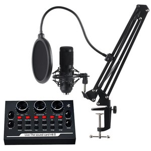 Microphones BM800 Condenser Microphone Kit With Cantilever Support Karaoke For PC Mobile Professional Studio Recording