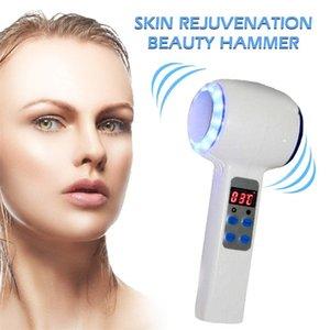 Hot Cold Hammer Ice Cryotherapy Beauty Machine Blue LED Light Photon Anti Acne Skin Rejuvenation Lifting Massager