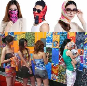 US Stock Seamless Style Bandanna Scarf Wrap Cool Neck Gaiters Yoga Magic Headscarf Fishing Sun Mask Collars Muffler Scarf Face Mask Gaiters