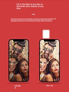 Selfie Light Portable Mobile Phone case flash Led Selfie Ring Fill Light back Cover for iPhone 12 pro mini cellphone Case