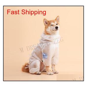 Ropa protectora para perros de mascota ventiladora para caminar al aire libre Tienda de bacterias Perro Perro Ropa Polvo Aparato Pet Pet P Jlluxm Yummy_shop