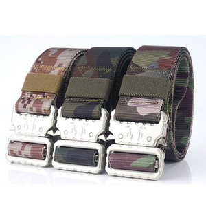 Military Tactical Nylon Belt Men Heavy Duty Army Waist Belt QuickRelease Belt with Metal Buckle for Training Outdoor Width