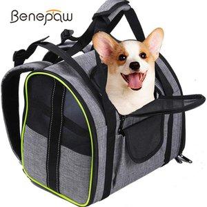 Benepaw respirável portador de cão resistente reflexivo pet pet pet pet puppy filhote de cachorro carregando saco de segurança