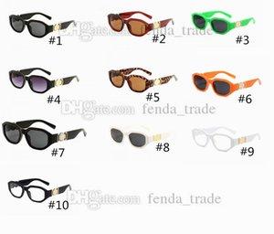 Küçük Yuvarlak Retro Güneş Erkekler Kadınlar Perçin Leopar Çay Shades Vintage Yeni Tasarımcı Gözlük óculos UV400 10 Renkler Gafas De Sol 10 adet Hızlı
