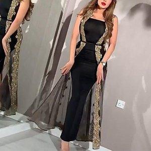 두 조각 세트 섹시한 나이트 클럽 Strapless 드레스 여성 슬림 피트 슈즈 관점 메쉬 분할 목도리 바디 콘 파티 Prom Vestidos