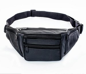 2021 New Hot Style Men Leather Casual Fanny Pack Waist Belt Bag Purse Hip Pouch Travel Sports Waist Packs