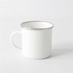 home Sublimation Enamel Coffee Mug 12oz Camping Mug Metal Blank Coffee Cup Enamel Steel Tumblers Sea Shipping ZC002