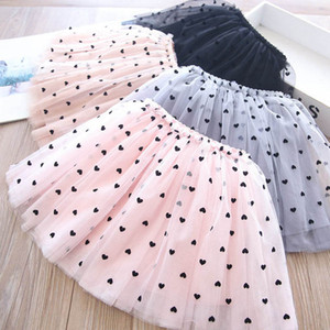Love Girls Skirts Lace Tutu Skirts Sweet Kids Skirt Ballet Tiered Skirt Spring Summer Kids Clothes Baby Clothing 2-6Y B3975
