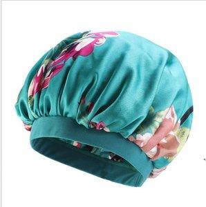 NightCap Turban Floral Print Hat Head Wraps Wraps Turban Flower Мягкая комфортная имитированная шелковая ткань химиотерапия Cap AHC6420