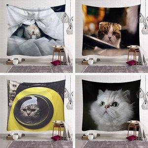 고양이 아트 매달려 헝겊 라이브 룸 렌탈 룸 장식 벽 천 기숙사 침실 머리맡 tapestry dhl 무료