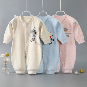 High Quality Newborn Rompers Fashion Cartoons Cotton Baby Clothes 2021 Blue Kids Split Pants Comfortable Pajamas Clothing 0~11 Months