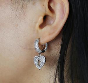 New Broken Heart Dangle Charm Hoop Earrings For Lady Geometric Hanging Earrings Female Big Modern Jewelry O jllreF carshop2006