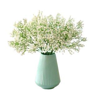 90Heads 52cm Babies Breath Artificial Flowers Plastic Gypsophila DIY Floral Bouquets Arrangement for Wedding Home Decoration