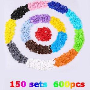 600PCS 1440PCS Resin Nylon Plastic Children's Four Buttons Kit Color Round Button Bags Buckle Multicolor Set