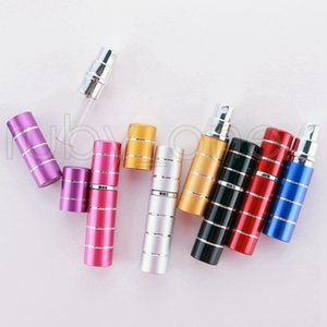 5ml Perfume Bottle Portable Mini Aluminum Refillable Bottles Spray Empty Makeup Containers With Atomizer For Traveler Party Favor RRA4451