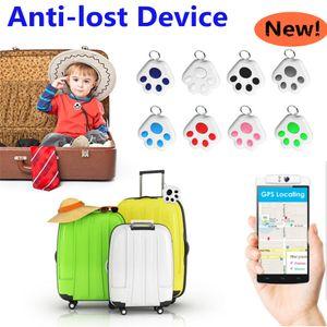 Dog Paw Smart GPS Tracker Key Finder Locator Bluetooth Anti Lost Alarm Sensor Device For Kids Car Wallet Pets Cats