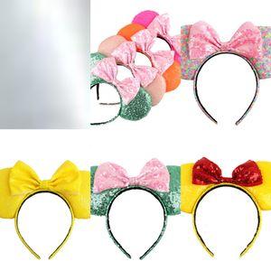 bow sequins big women girls Headband hair accessories Mouse ear Hair Sticks Headwear Boutique hair accessories 01FO