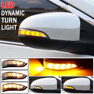 Светодиодные дллы, текущие боковые боковые задние зеркало динамический поворот сигнал света лампы для Toyota Vios Altis Yaris Corolla Camry Accessorations