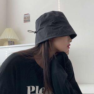 Placa de luz versátil Mostrar pequeño Blim Bucket Women's Korean Mask Plain Face Primavera y Sombrero de verano Moda