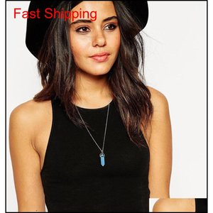 Shape Real Amethyst Natural Crystal Quartz Healing Point Chakra Bead Gemstone Opal Stone Pendant Chain Necklac qylbft luckyhat