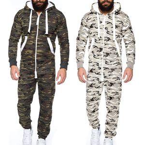 Pareja otoño invierno hombres cálidos mono mono prenda de una pieza pijama sin pie plomo blusa sudadera con capucha Q0125