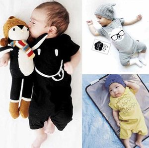 Baby Infant Boy Designer Clothes Ins Toddler Girl Rompers Cotton Infant Boys Jumpsuits Short Sleeve Newborn Baby Clothing 4 Designs DW4188