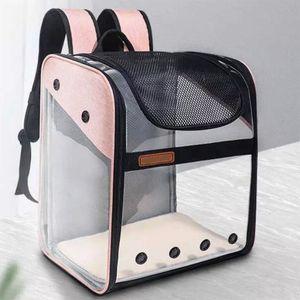 Ventilated Cat Backpack Carrier Dog Transparent Foldable potable Transport bag Airline Approved for puppy or