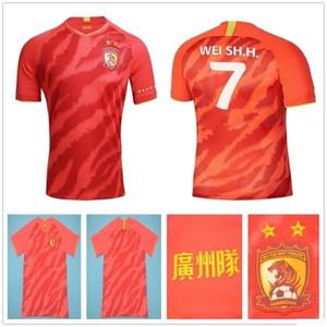2020 YENİ Guangzhou Evergrande Taobao Futbol Forları PAULINHO A.TALISCA ZHENG ZH. Goulart Özel 20 21 Ev Guangzhou Hengda Futbol Gömlek