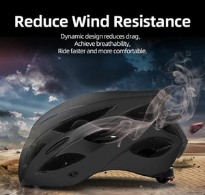 Bicycle helmets, helmets, one-piece, with rear taillight warning lights, adjustable mountain bike riding equipment, helmets for men and wome