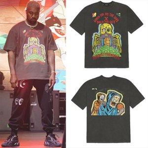 XXXTENTACION KANYE WEST 시즌 남성 탑스 6 1 : 1 고품질 보류 게이트 티셔츠 티셔츠 짧은 소매 셔츠
