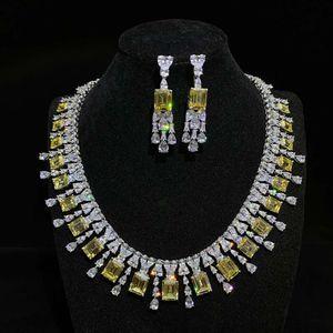 Mode HBP Shi Pei Bijoux exagère 925 Colliers en argent sterling, Inlaid de diamant de luxe pour femmes, grand collier de luxe, noble et populaire