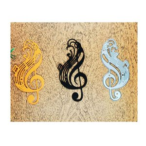 Painting Supplies Musical Note Cutting Dies Scrapbooking Embossing Folders For Greeting Card Making Decorative Paper Metal Craft DIY Stencil