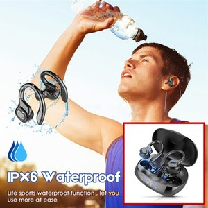 Private VV2 TWS Bluetooth Earphones With Microphones Sport Ear Hook LED Display Wireless Headphones HiFi Stereo Earbuds Waterproof Headsets