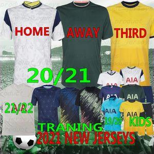 Thai Tottenham 21/22 Calidad Kane Soccer Jersey Lamela Bergwijn Ndombele Dele Son Jersey 20/21 Camisa de Fútbol Hombres Kit Kit Juego Uniforme