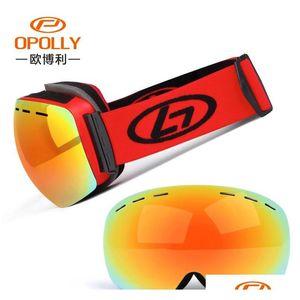 Men Women Winter Snow Sports Ski Goggles Snowboard Goggles With Anti-fog Uv 400 Protections Double Lens Ska jllHbj xmh_home