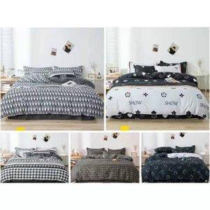 2 3 Pcs Luxurious Brand Duvet Cover Set Leopard Print Bedding Sets Twin queen king Size Black and White Grid Comforter Set