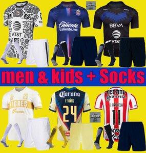 Liga MX 2021 2022 Club Amerika Tigres Unam Chivas Futbol Formaları Üçüncü 20 21 22 Monterrey Camisas De Futbol Gömlek Erkekler Kids Kiti